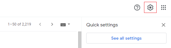 see email settings